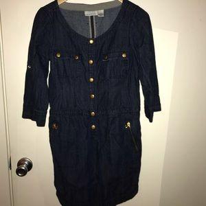 DKNY Denim Snap Dress